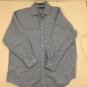 Men's Tommy Hilfiger Blue Striped Dress Shirt 17